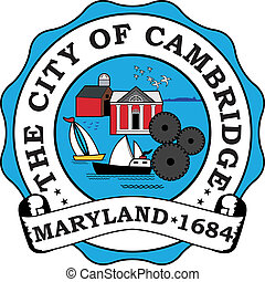Cambridge city seal - Various vector flags, state symbols,...