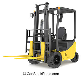 Forklift Truck - Forklift Truck on white background...