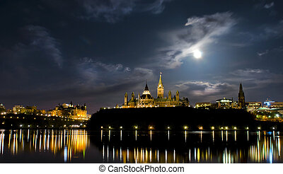 Political Glow - May 5, 2012: Super moon over the canadian...