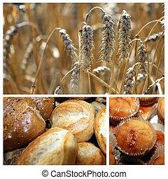trigo, mezcla, panadería, productos