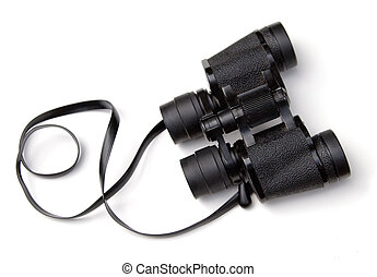 Binoculars - Pair of binoculars on a white background
