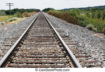Rail road perspective background