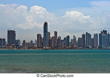 Panama City - Downtown Panam City Panorama
