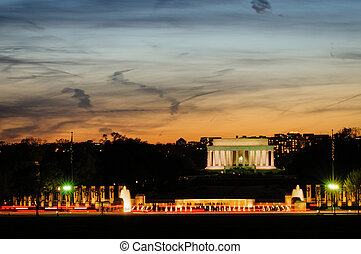 Lincoln Memorial - Sunset picture of the Lincoln Memorial...