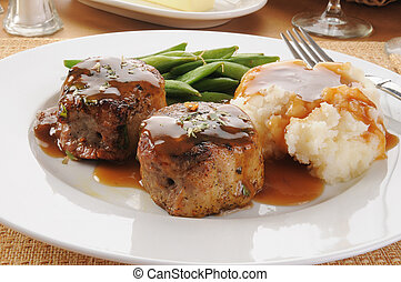 Pork tenderloin and mashed potatoes - Pork tenderloin...
