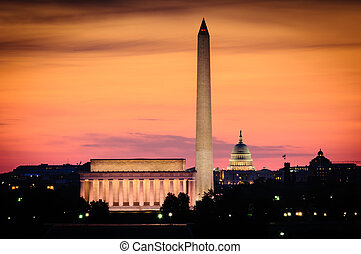 Washington Monument - Lincoln Memorial, Washington Monument...
