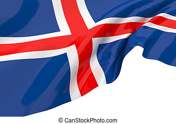 Vector Flags of  Iceland