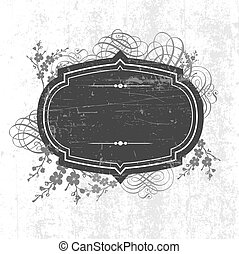 Vector Grunge Frame and Ornaments. Easy to edit. Perfect for...