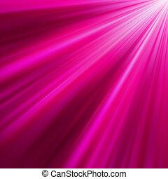 Purple luminous rays. EPS 8