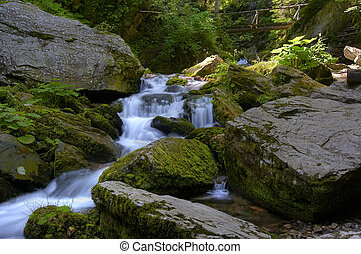 cataracts - Shot of the cataracts. River valley of stream...