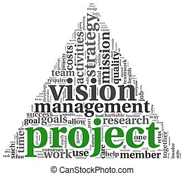 Project and vision in tag cloud - Project and vision concept...