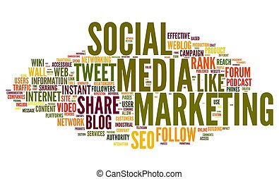Social media marketing in tag cloud - Social media marketing...