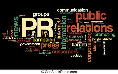 Public relations concept in tag cloud - Public relations...