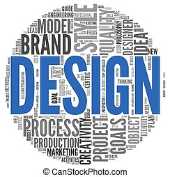 Design concept in word tag cloud