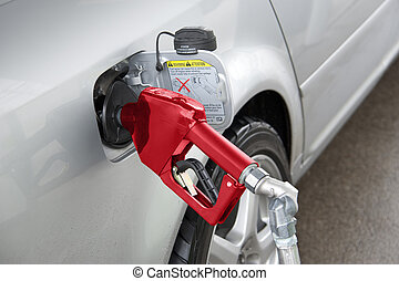 Filling up with gas
