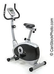 Stationary bike. Gym machine - Stationary bicycle. Gym...