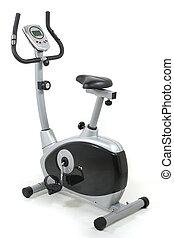 Stationary bike. Gym machine - Stationary bicycle. Gym...