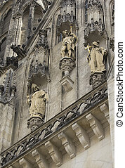 Detailed view of Cathedral in Olomouc - Saint Wenceslas...