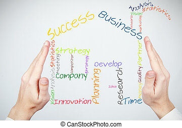 Building a new business - Concept of building a new business