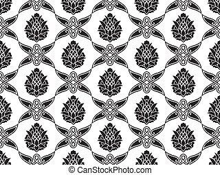 Seamless damask floral texture