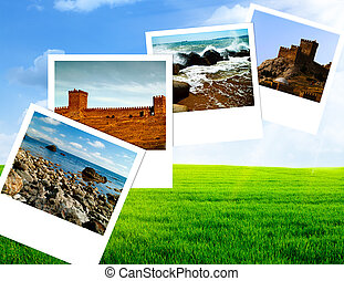 Summer time, abstract travel backgrounds