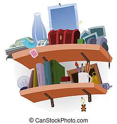 Shelf full of Stuff