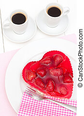 Love - Strawberry Cake - Heart Shaped Strawberry Cake and...