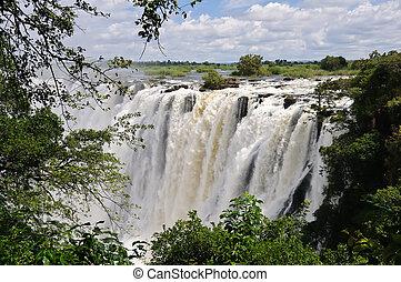 Victoria Falls, Africa - The Victoria Falls, on the Zambezi...