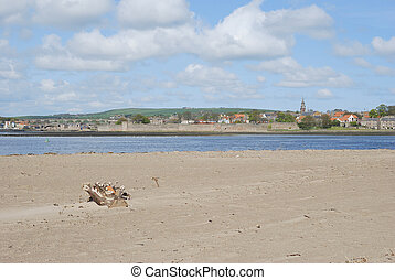 looking over the Tweed estuary to Berwick-upon-Tweed...
