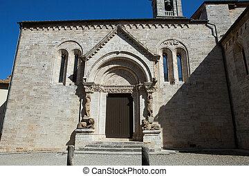 Church La Collegiata di San Quirico DOrcia,Tuscany