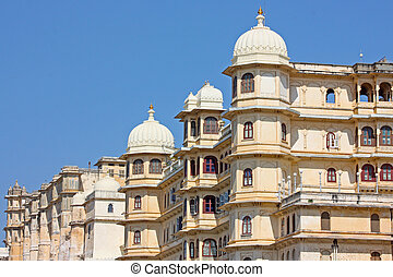 Udaipur city palace in Rajasran, India