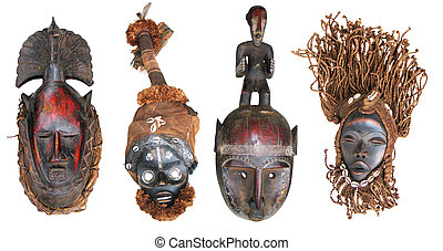 African masks - The original African masks, made the...