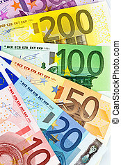 a fan of euro banknotes - euro banknotes money the eu. money...