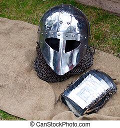 Helmet and mitten