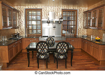 kitchen - nice interior with furniture and kitchen...