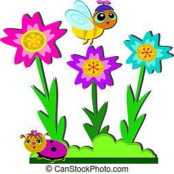 Bee and Ladybug Garden