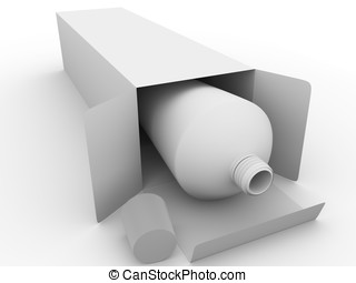 ointment tube - 3d render of an ointmen packaging in white....