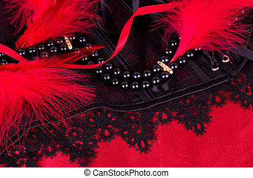 fashionable beads and black laces - Sexy fashionable beads...