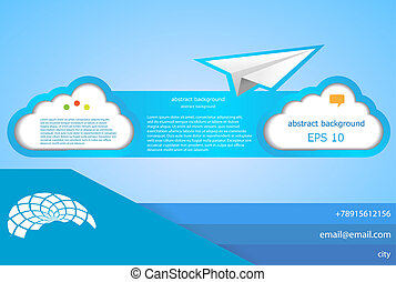 Vector cloud abstract background. Web design element. Eps10