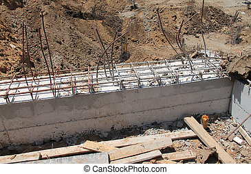 Constraction site. Concrete work - Constraction site....