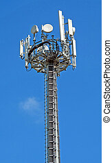 Group of antennas for the transmission of television and telephone signals