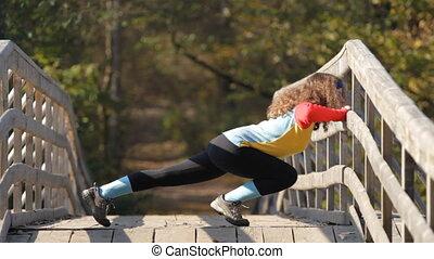 girl doing push ups