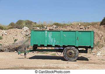 The tractor trailer - Trailer for debris removal from the...