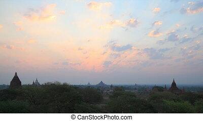 Bagan sunrise timelapse - Bagan , Myanmar