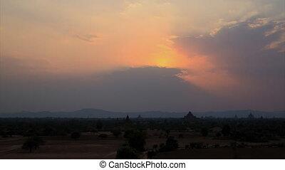 Bagan sunset timelapse