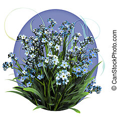 Forget Me Not - a bouquet of forget me not flowers
