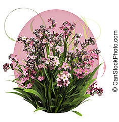 Pink Forget Me Not - a bouquet of forget me not flowers in...