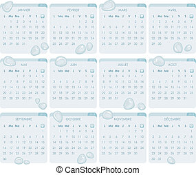 French Calendar 2013 - French calendar for year 2013 with...