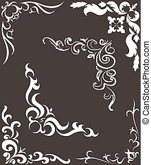 pattern for the frame - a set of patterns for the frame