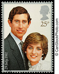 Prince Charles and Lady Diana Postage Stamp - UNITED KINGDOM...
